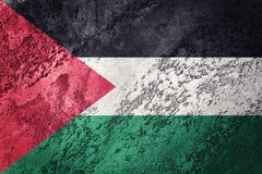 标志grunge巴勒斯坦 与难看的东西纹理的巴勒斯坦旗子 库存图片