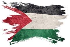 标志grunge巴勒斯坦 与难看的东西纹理的巴勒斯坦旗子 brusher 皇族释放例证