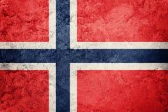 标志grunge挪威 与难看的东西纹理的挪威旗子 库存照片