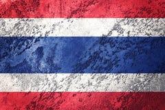 标志grunge泰国 与难看的东西纹理的泰国旗子 免版税图库摄影