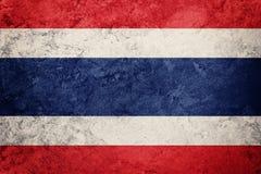 标志grunge泰国 与难看的东西纹理的泰国旗子 免版税库存照片