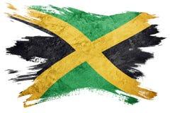 标志grunge牙买加 与难看的东西纹理的牙买加旗子 刷子str 皇族释放例证