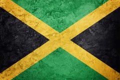 标志grunge牙买加 与难看的东西纹理的牙买加旗子 库存照片