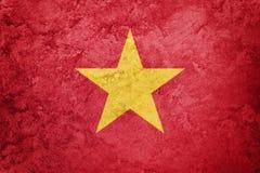 标志grunge越南 与难看的东西纹理的越南旗子 免版税图库摄影