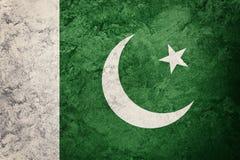 标志grunge巴基斯坦 与难看的东西纹理的巴基斯坦旗子 库存图片