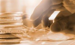 标注在LED的股市财政显示分析图表  图库摄影