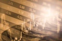 标注在LED的股市财政显示分析图表  库存图片