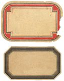 标签二葡萄酒 免版税库存图片