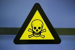 标签含毒物化学制品 免版税库存图片