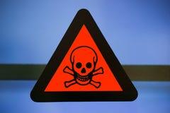 标签含毒物化学制品 库存照片