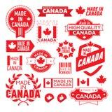 标签在加拿大做了†‹â€ ‹ 免版税库存照片