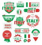 标签意大利制造 免版税库存图片
