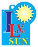 标签我爱太阳 皇族释放例证