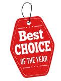 年标签或价牌的最佳的选择 免版税库存图片