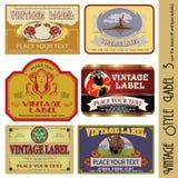 标签样式葡萄酒 免版税库存照片