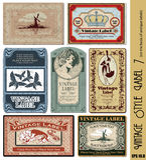 标签样式葡萄酒 免版税库存图片