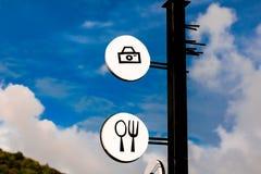 标签照相机徽章 库存图片