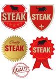 标签牛排 免版税库存图片