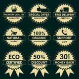 标签的收集-卖主的 免版税图库摄影