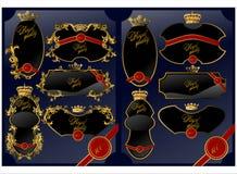 标签皇家quality.black (传染媒介) 免版税库存图片