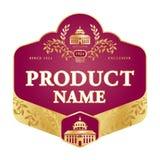 标签设计 免版税库存照片