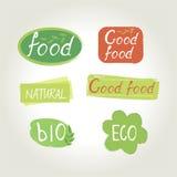 标签食物设计 免版税库存图片