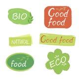标签食物设计 免版税图库摄影