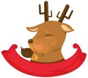 标签驯鹿 免版税库存图片