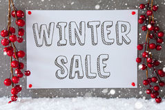 标签,雪花,圣诞节装饰,文本冬天销售 免版税库存照片