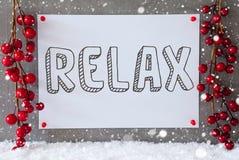 标签,雪花,圣诞节装饰,文本放松 库存图片