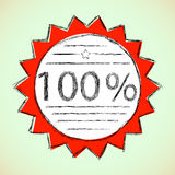 标签100%。 免版税库存图片
