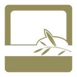 标签olil橄榄 免版税库存照片