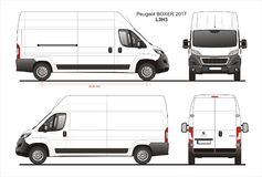 标致汽车拳击手货物送货车2017 L3H3图纸 库存例证