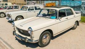 标致汽车404老朋友每年全国老朋友天在莱利斯塔德 库存图片
