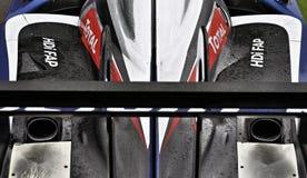 标致汽车908 HDi FAP耐力赛车 免版税库存照片