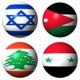 标记以色列乔丹黎巴嫩叙利亚 向量例证