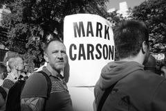 标记卡森反因仇恨造成的犯罪集会 免版税库存图片