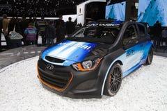 现代集团i20 WRC -日内瓦汽车展示会2013年 图库摄影
