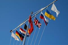 标记国家多种 免版税库存照片