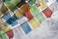 标记拉萨祷告西藏人 库存图片