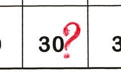 标记日期数30 第五日是被标记的wi 图库摄影