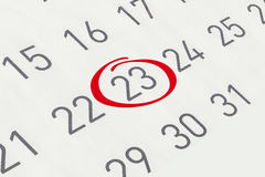 标记日期数23 图库摄影