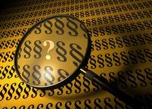 标记段问题 免版税库存图片