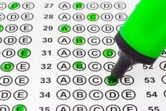标记测试 免版税图库摄影