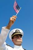 标记海军军官 免版税库存照片