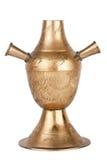 标记的黄铜花瓶 免版税库存图片