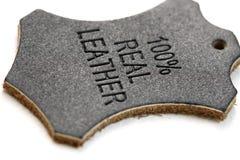 标记皮革实际 免版税库存图片