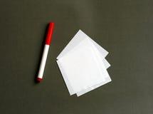 标记纸张 免版税库存照片