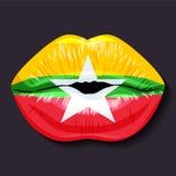 标记缅甸 库存照片