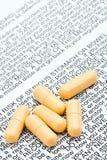 标记药片警告 免版税库存图片